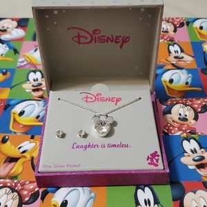 New Disney Mickey Mouse Necklace with Earrings